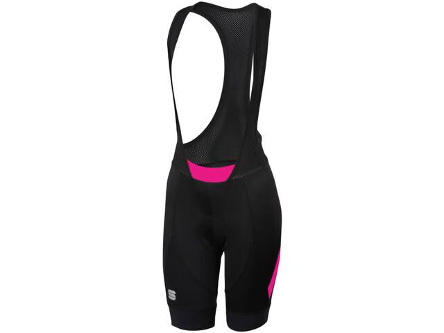 Sportful Neo Bib Shorts Dame black bubble gum